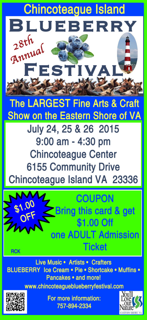Image:  2015 Chincoteague Blueberry Festival Coupon