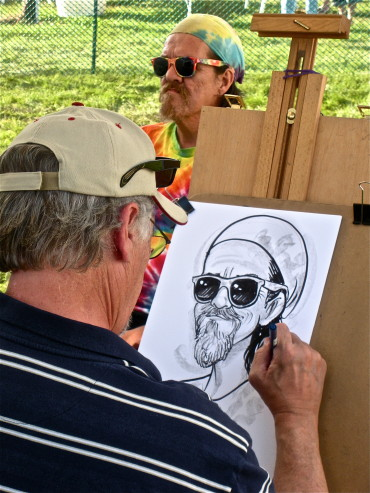 Caricatures by Dick Westbrook